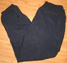 Jockey Men's Black Lined Nylon Athletic Running Outdoor Basketball Pants... - $10.93
