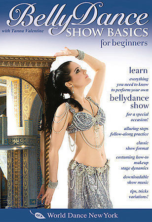 BELLY DANCE SHOW BASICS FOR BEGINNERS by TANNA VALENTINE (2007) DVD 180 MINUTES