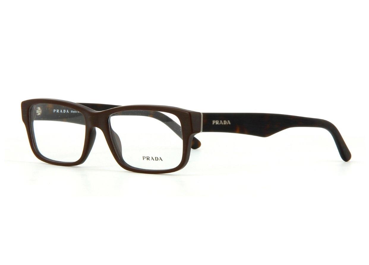 e161c2ee3078 Image. Image. Previous. New Authentic Prada PR 16MV TV61O1 Matte Brown Eyeglass  Frame 53mm