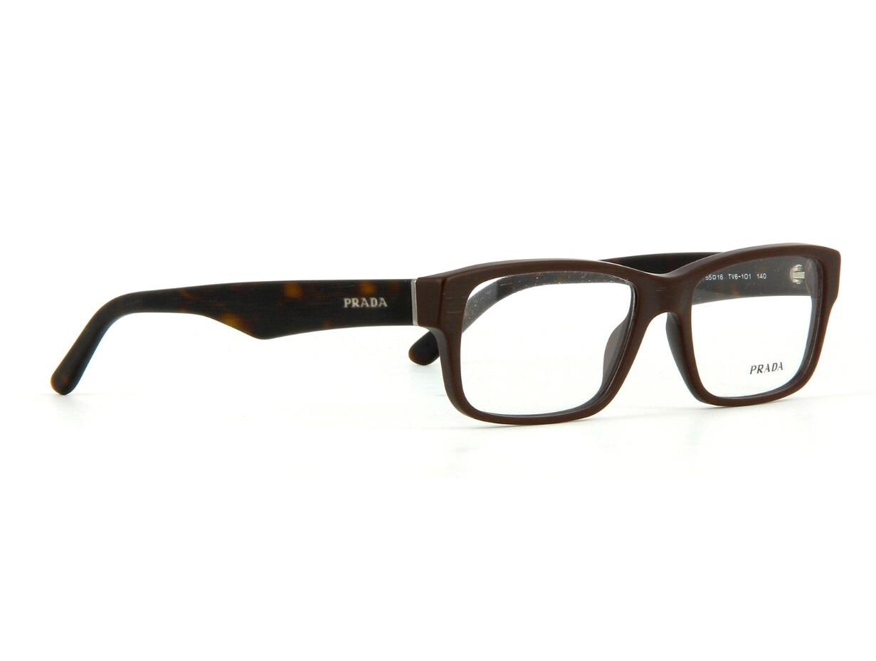 59c0a32009d6 New Authentic Prada PR 16MV TV61O1 Matte Brown Eyeglass Frame 53mm