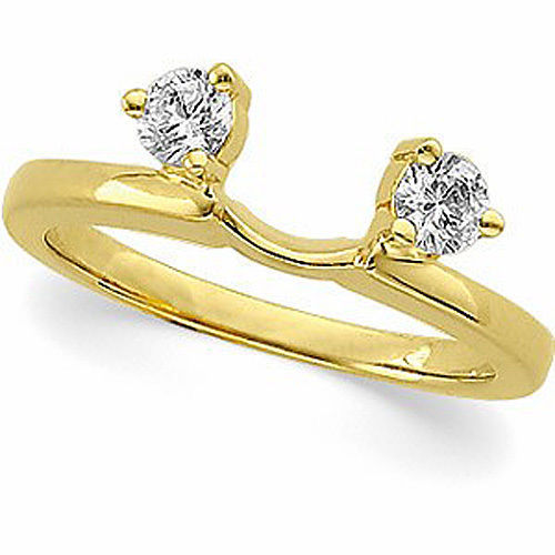 1/3 CARAT Diamond Solitaire Engagement Ring Enhancer in 14K White or Yellow Gold