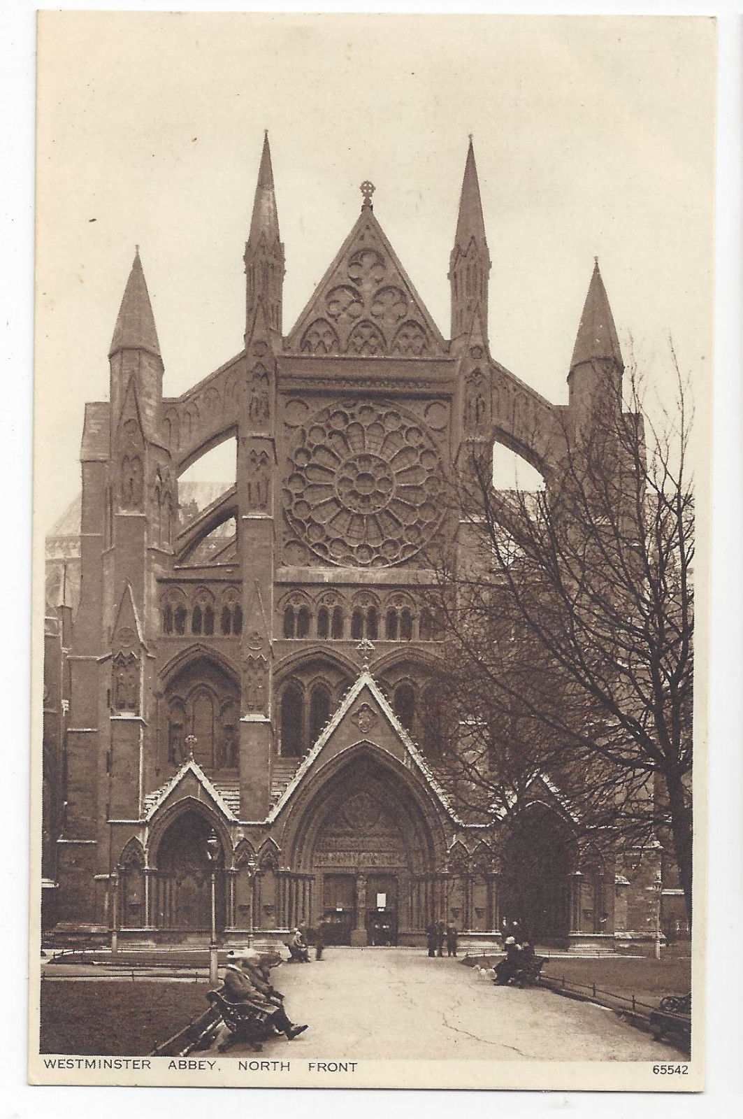 Primary image for UK London Westminster Abbey North Front ca 1920 Vintage Photochrom Postcard