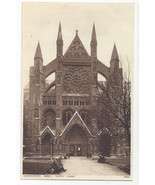 UK London Westminster Abbey North Front ca 1920 Vintage Photochrom Postcard - $6.69