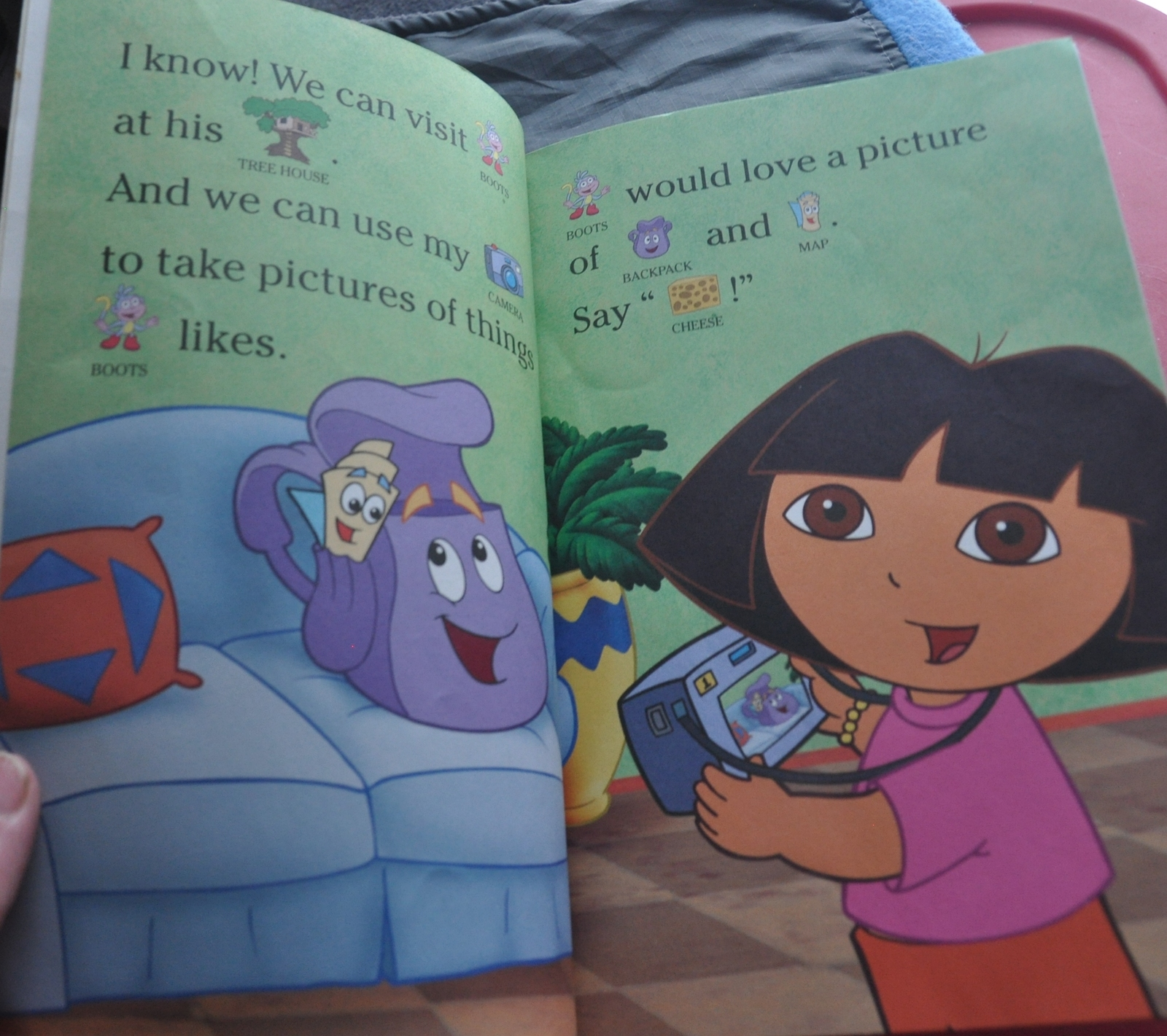 Dora the Explorer Cheering up a Sick Friend (Boots) W/ Pictures- Say Cheese Book