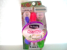 New Limited Edition Schick Quattro For Women Sensitive Skin 3 Disposable... - $5.00