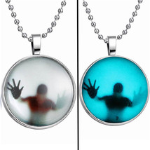 Cabochon Glow in the Dark Steampunk Necklace - $15.95