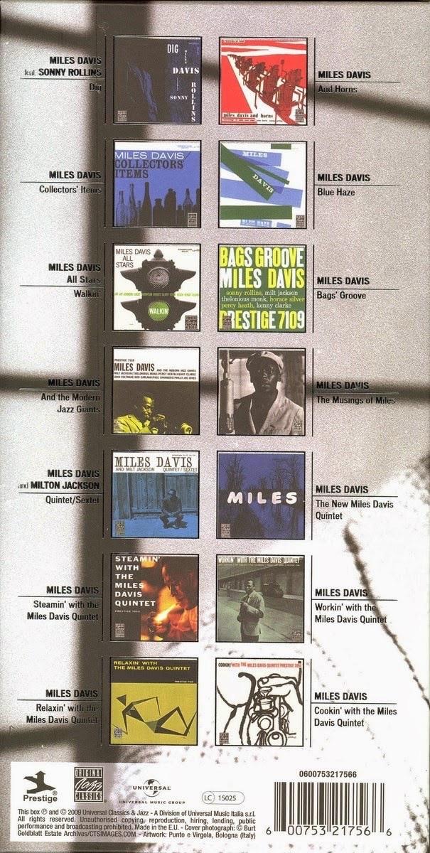 Miles Davis All Miles The Prestige Albums 14 Cd Box Set Jazz