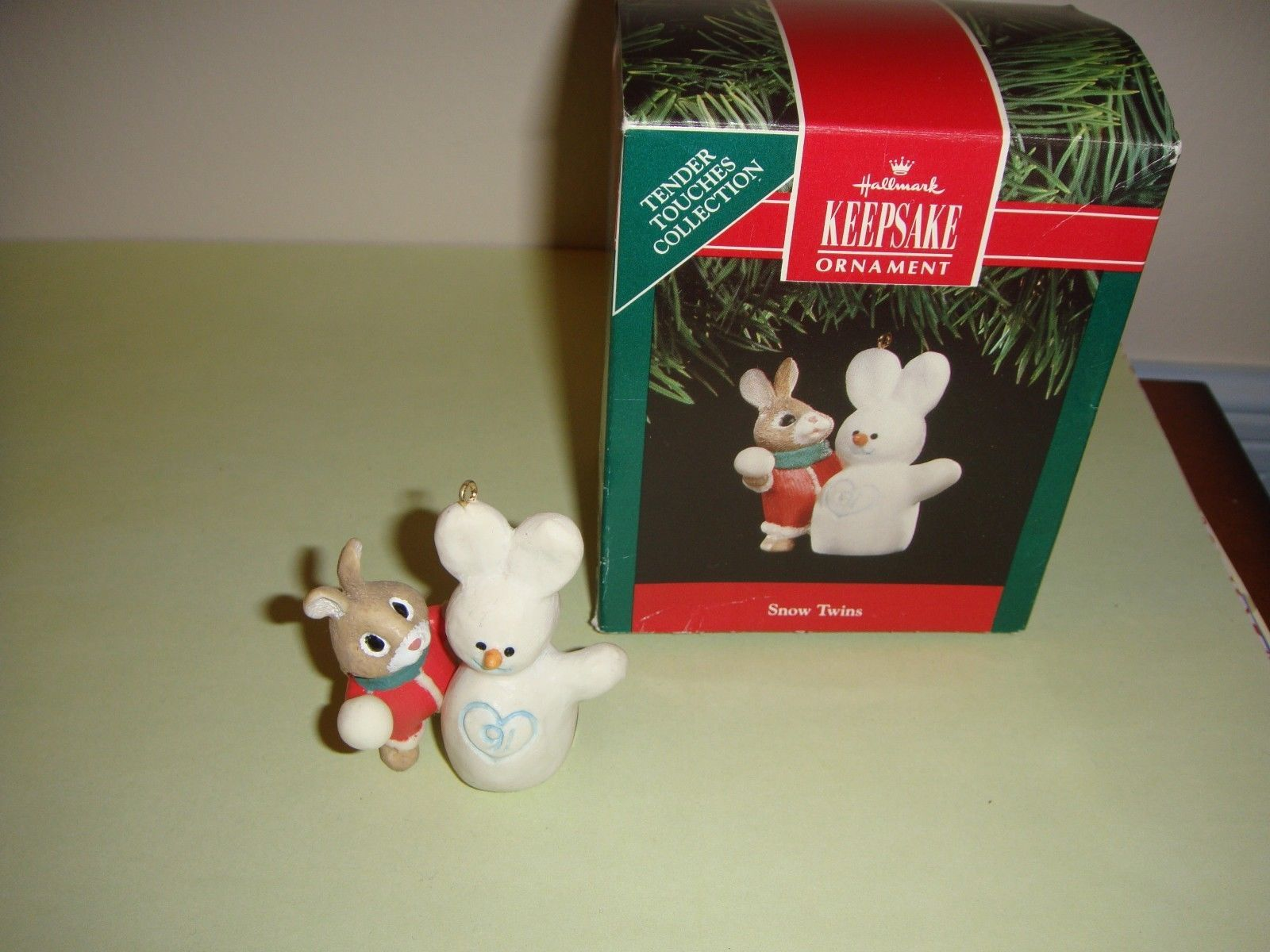 Hallmark 1991 Ornament Snow Twins Tender Touches Collection