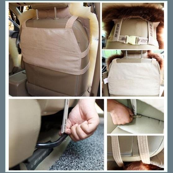 Fluffy Smoke Gray Luxury Australian Lambskin Woolen Fur Seat Cover Protector