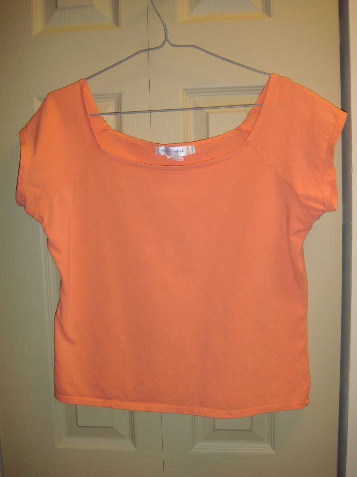 Fresh Produce Top L Papaya Cotton Lycra Athletic Top