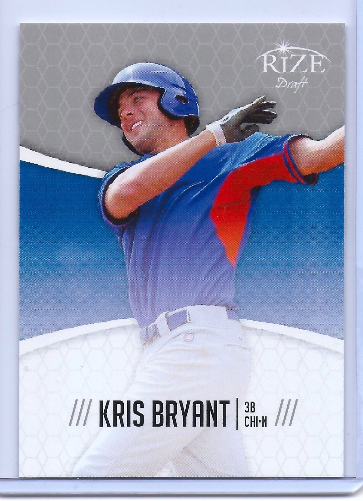 """KRIS BRYANT 2014 LEAF """"RIZE"""" DRAFT CHICAGO CUBS ROOKIE CARD! FUTURE SUPER STAR!"""