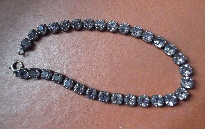 "Very Vintage Rhinestone Soft Pink Bracelet 6 1/4"" Long Delicate"