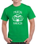 103 Mugs Not Drugs mens T-shirt Irish St. Patricks Day Ireland party bee... - $15.00+