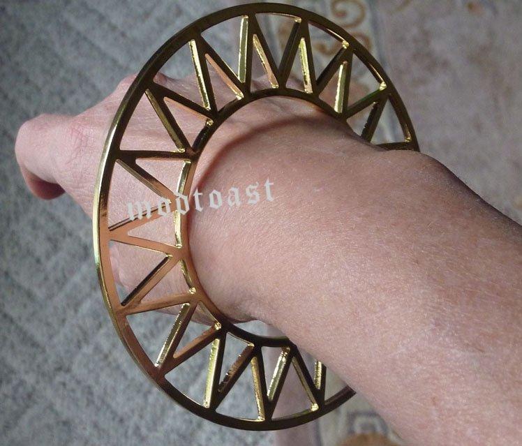 Sun Disk Bracelet Gold Boho Indie Circle Statement Women Geometric Coachella