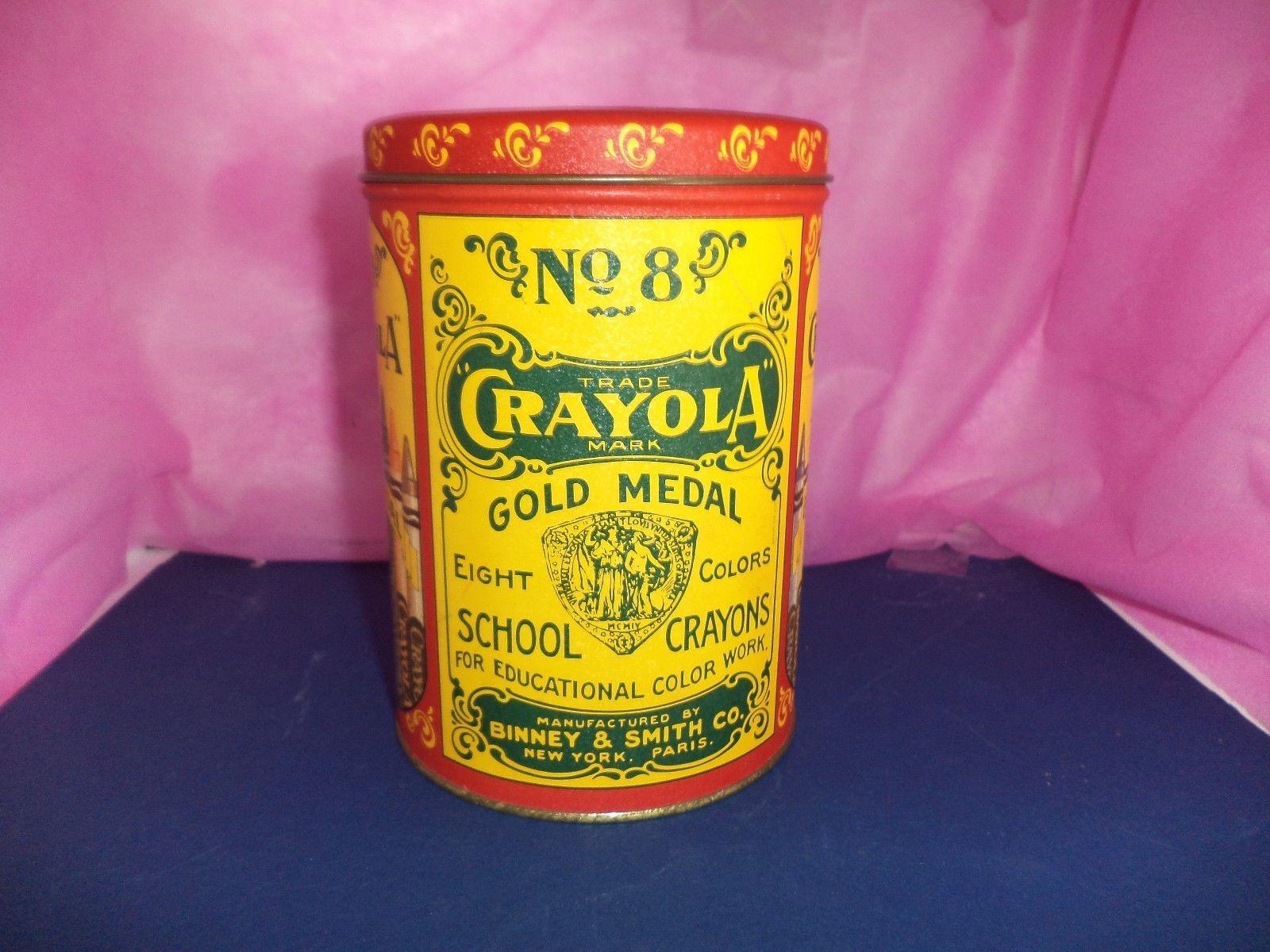 Gold Medal Crayola School Crayons Tin