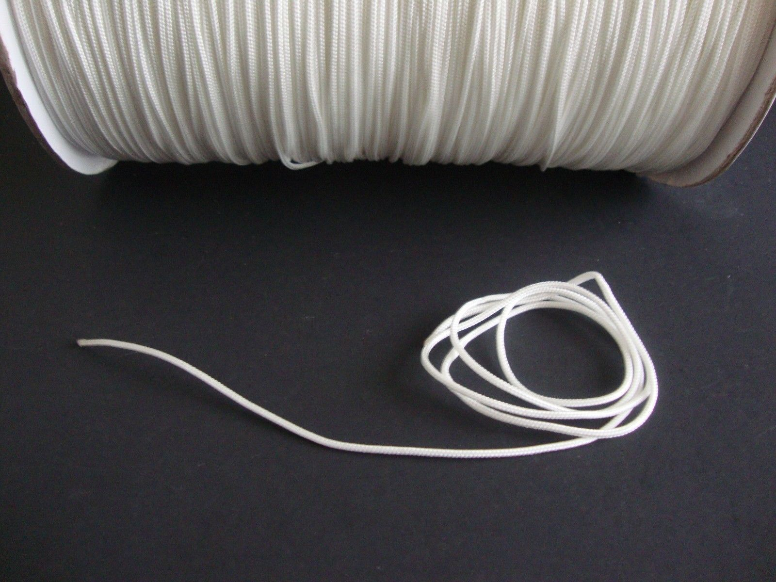 50 FEET:1.8mm WHITE LIFT CORD for Blinds, Roman Shades and More