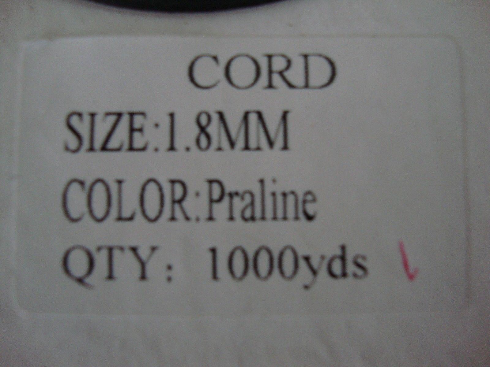 1000 YARDS :1.8mm LIFT CORD:, in  Praline