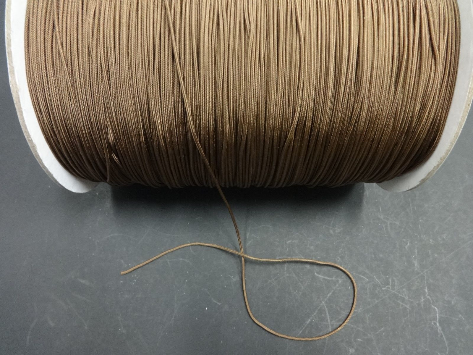 50 FEET:1.8mm MILK CHOCOLATE LIFT CORD for ROMAN/PLEATED shades & blinds
