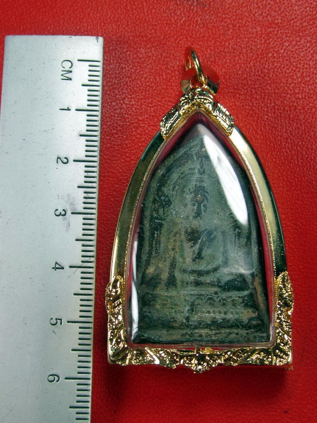 VERY RARE HOLY PHRA BUDDHA-CHIN-NARAT-BAI-SEMA 300 YEAR TOP THAI BUDDHA AMULETS