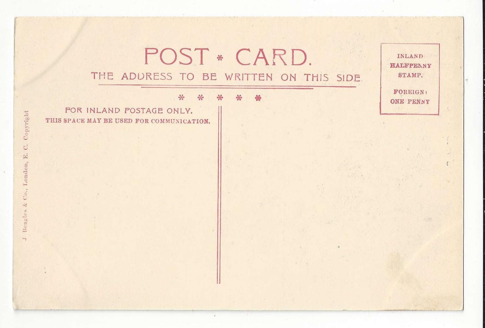UK England London St. Paul's Cathedral West Front Vtg J Beagles Postcard c 1910