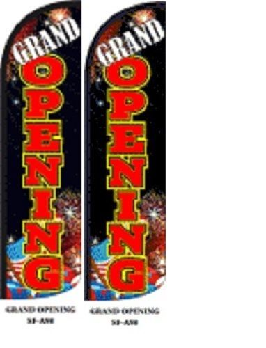 Grand Opening King Size Windless 38 x 138 in Polyester Swooper Flag pk of 2
