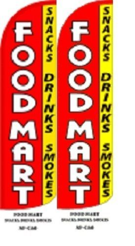 Food Mart King Size Windless 38 x 138 in polyester Swooper Flag pk of 2