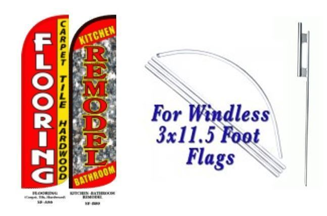Flooring, Kitchen Remodels Windless  Swooper Flag With Complete Kit