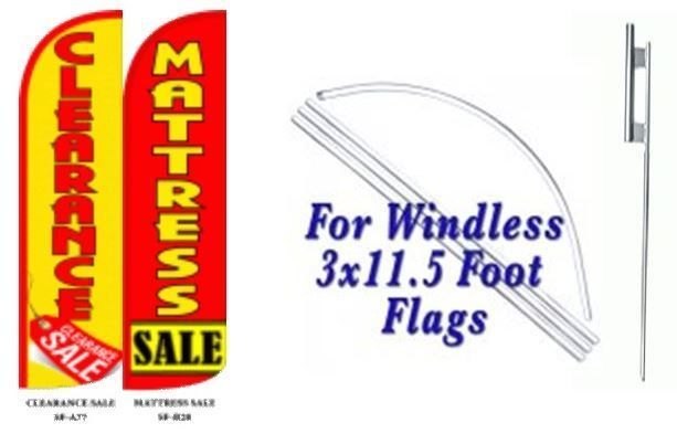 Clearance Sale Mattress Sale Windless  Swooper Flag With Complete Kit