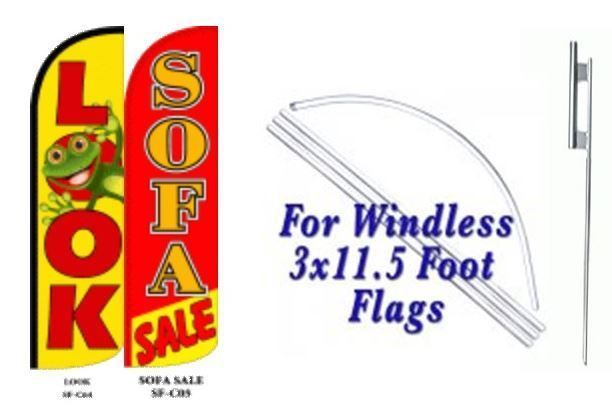 Look Sofa Sale  Windless  Swooper Flag With Complete Kit