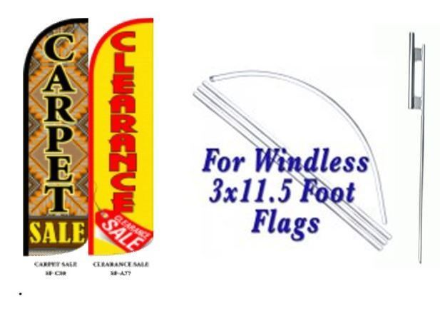 Carpet Sale Clearance Sale Windless  Swooper Flag With Complete Kit