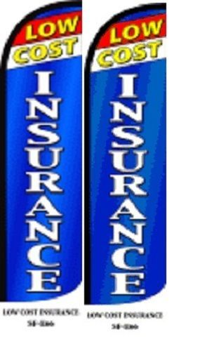 Low Cost Insurance King Size Windless 38 x 138 in Polyester Swooper Flag pk of 2