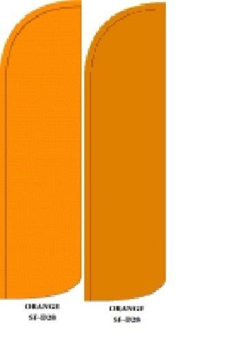 Mustard King Size Windless 38 x 138 in Polyester Swooper Flag pk of 2