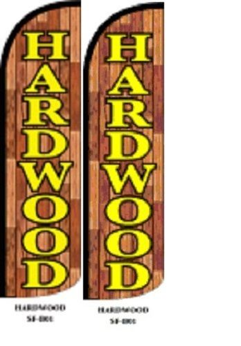Hardwood King Size Windless 38 x 138 in Polyester Swooper Flag pk of 2