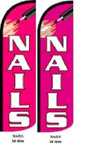 Nails King Size Windless 38 x 138 in Polyester Swooper Flag pk of 2