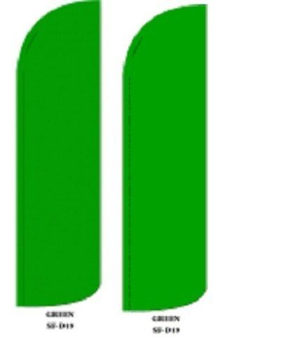Green King Size Windless 38 x 138 in Polyester Swooper Flag pk of 2