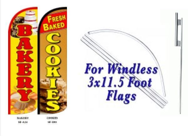 Bakery Fresh Baked Cookies Windless  Swooper Flag With Complete Kit