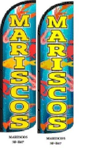 Mariscos King Size Windless 38 x 138 in Polyester Swooper Flag pk of 2