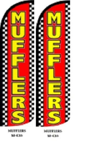 Mufflers King Size Windless 38 x 138 in Polyester Swooper Flag pk of 2