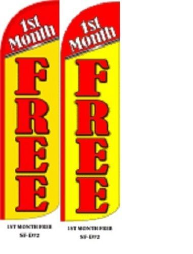 1st Month Free King Size Windless 38 x 138 in Polyester Swooper Flag pk of 2