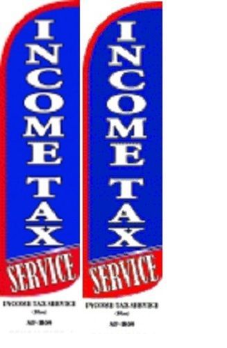 Income Tax Service King Size Windless 38x138 in Polyester Swooper Flag pk of 2