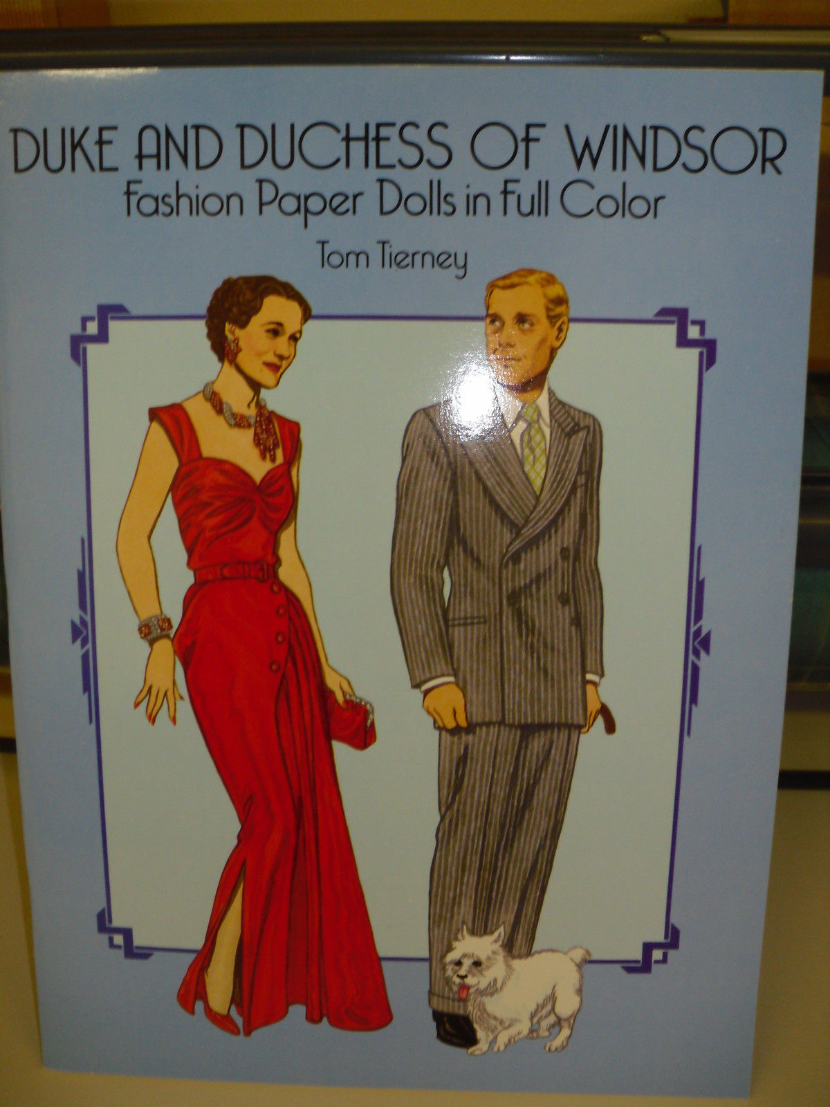 TOM TIERNEY PAPER DOLL BOOK(DUKE & DUCHESS OF WINDSOR)EXCELLENT CONDITION!!