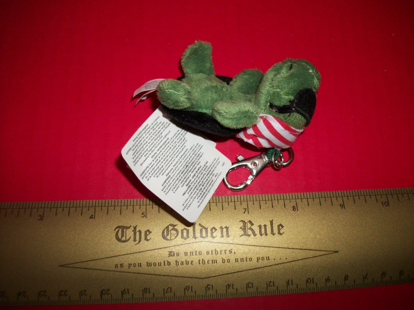 Toy Gift Russ Plush Shecky Pirate Turtle Stuffed Animal Keychain Eye Patch New