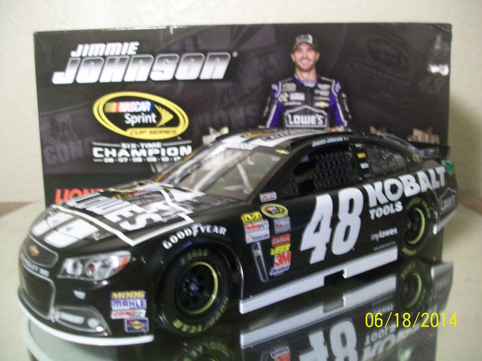 JIMMIE JOHNSON 2013 #48 KOBALT TOOLS 6X CHAMP 1:24 ACTION NASCAR DIECAST - 2014