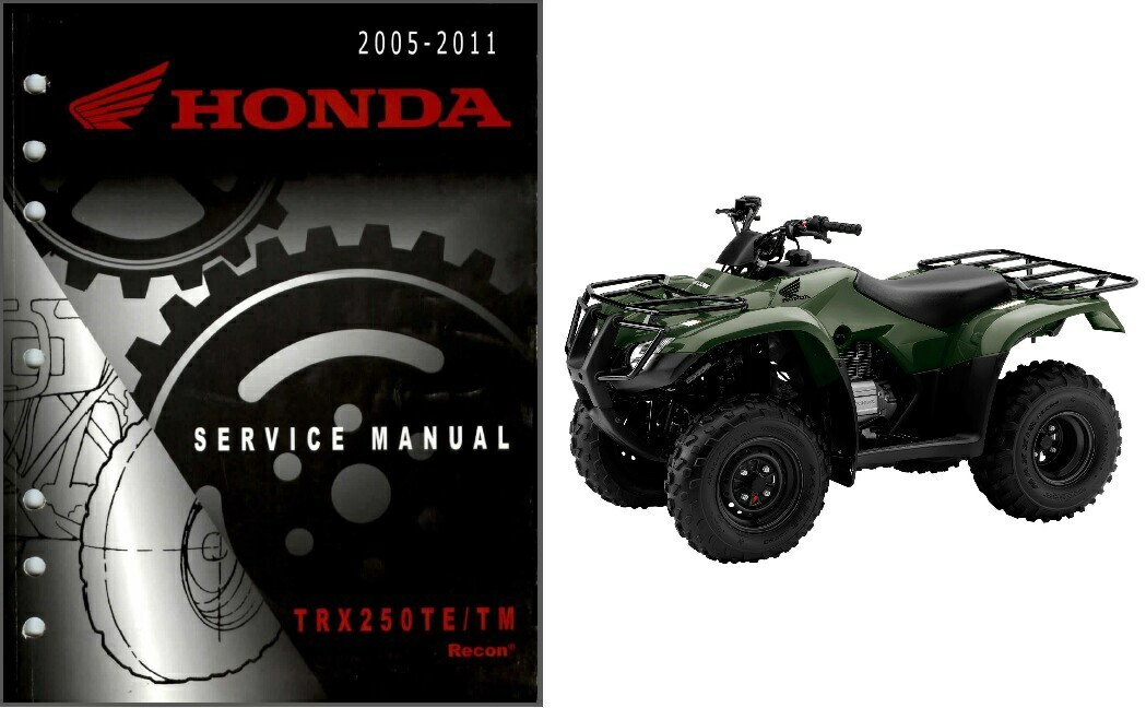 05-11 Honda TRX250TM / TRX250TE Recon ATV Service Repair Manual CD .. TRX 250