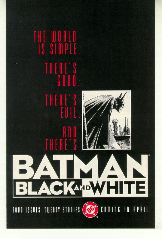 Batman black and white preview