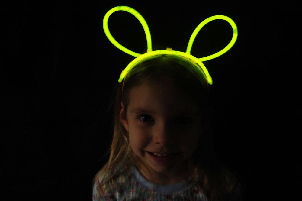 Set of 5 Yellow Glow Bunny Ears