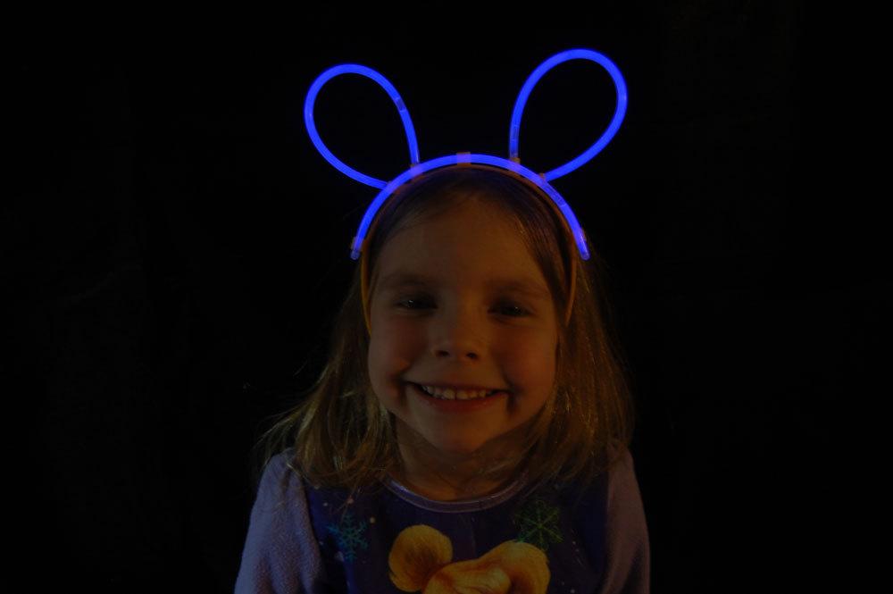 Set of 5 Blue Glow Bunny Ears