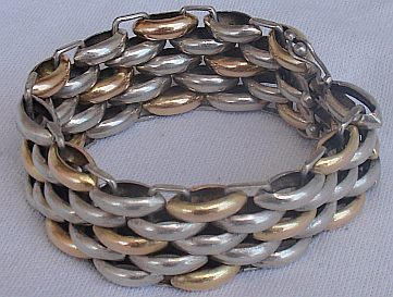 Primary image for Gold and silver vintage bracelet