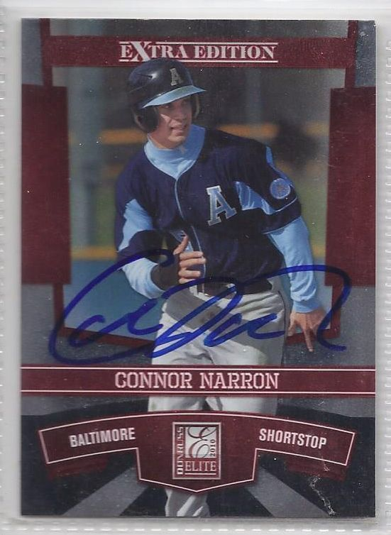 connor Narron Signed Autographed Card 2010 Donruss Elite Extra Edition