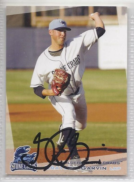 Grayson Garvin Signed Autographed card 2012 Charlotte Stone Crabs